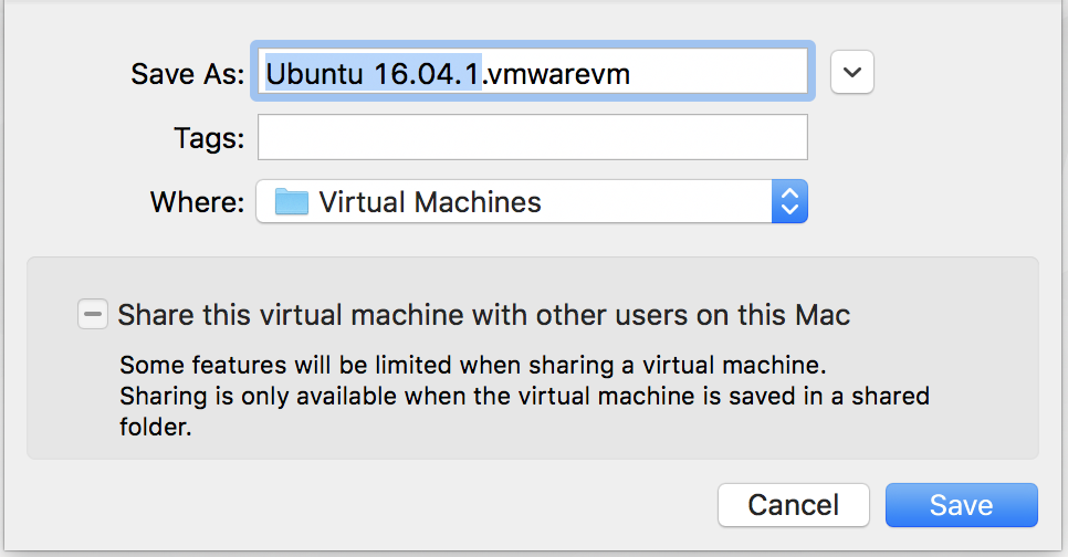 name your new vm virtual machine linux