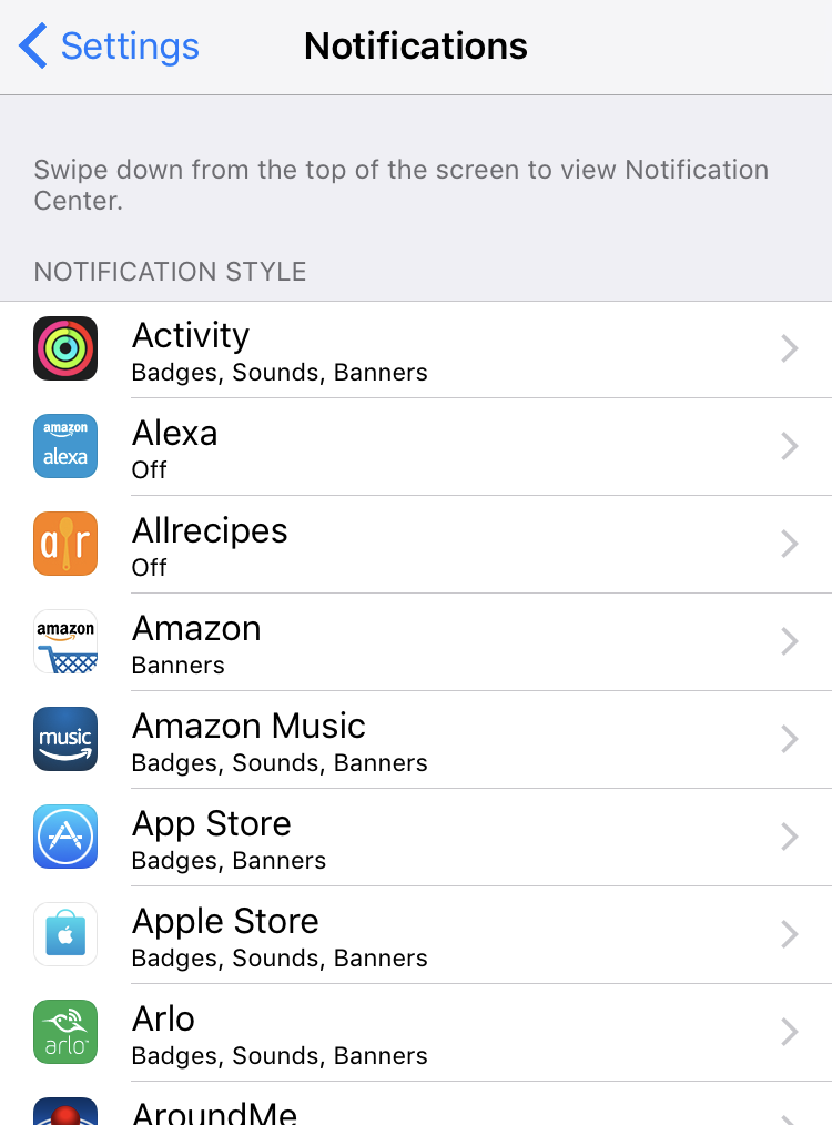 ios iphone ipad notifications apps programs