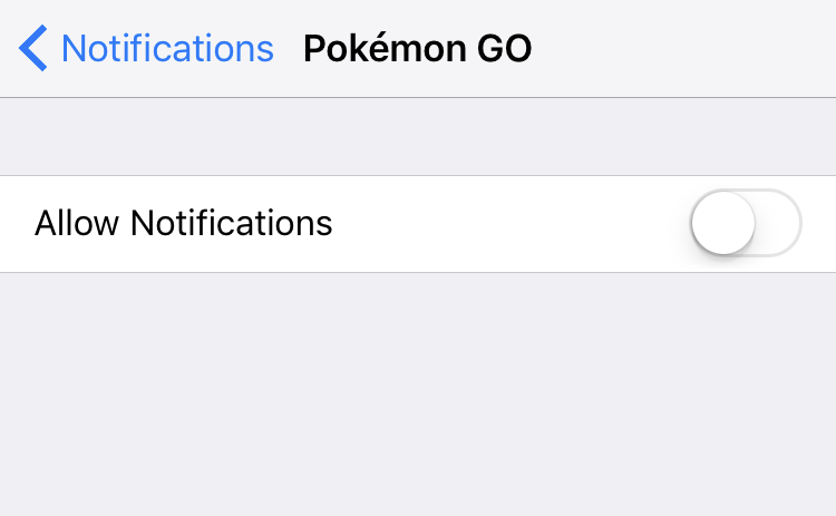 pokemon go notifications disabled