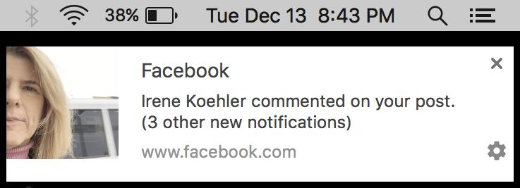 google chrome push notification window facebook