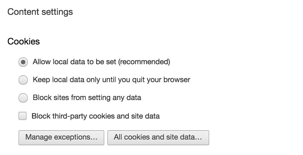 privacy settings, google chrome