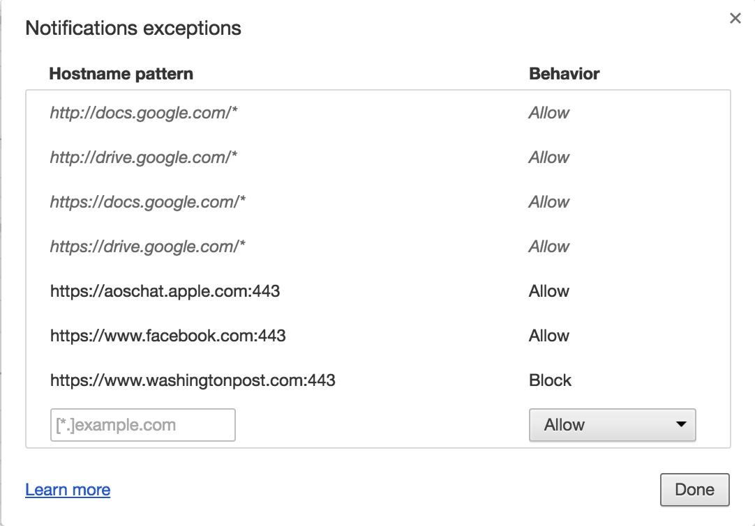 google push notifications, settings preferences manage
