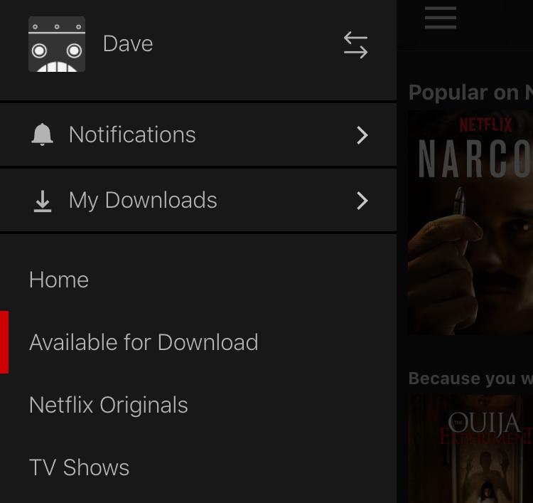 netflix app iphone ios main menu
