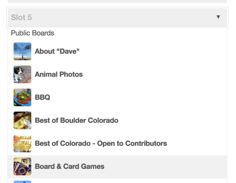 pick a board pinboard pinterest