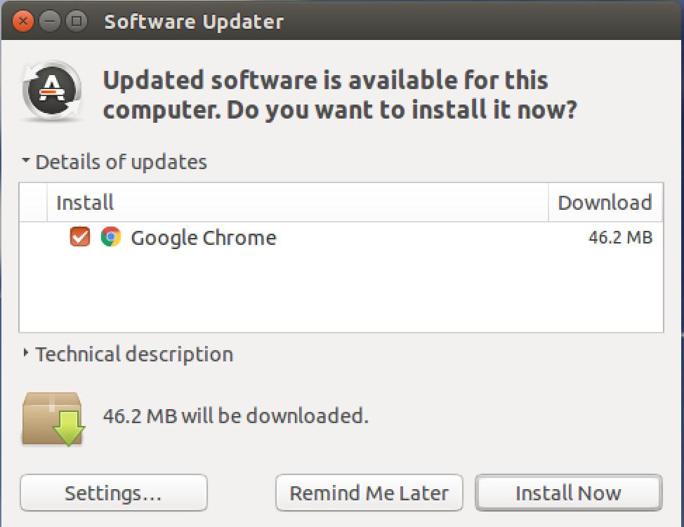 available software updates ubuntu linux 15