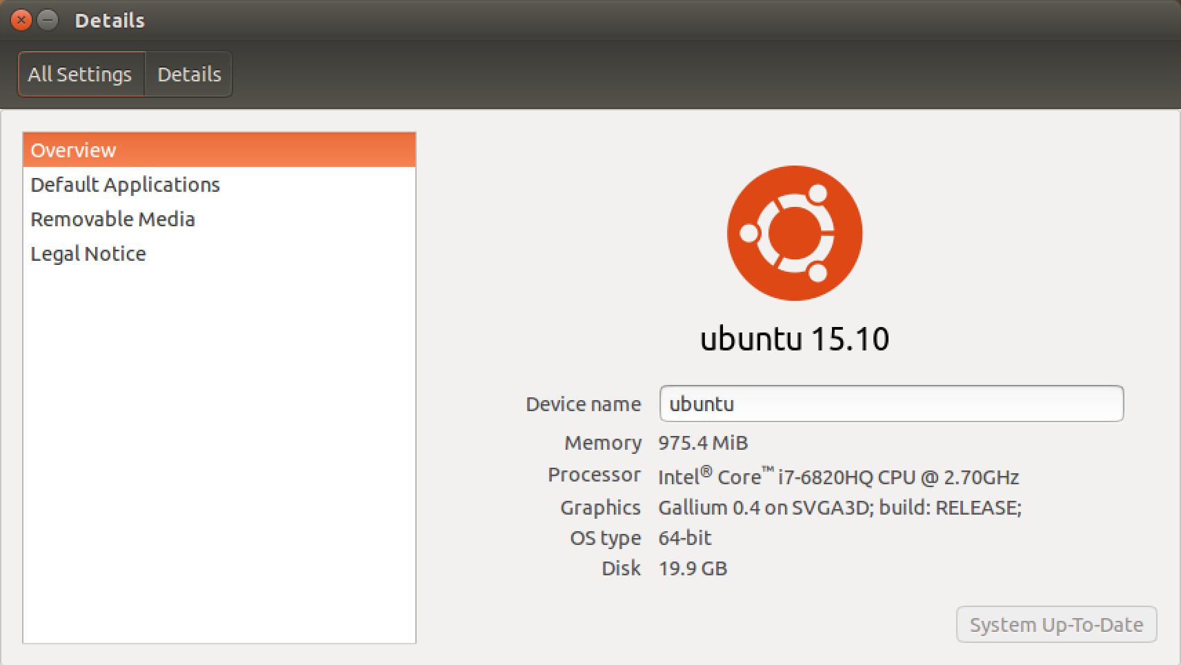 about this computer - ubuntu linux