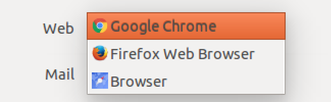 choice of web browsers, ubuntu linux