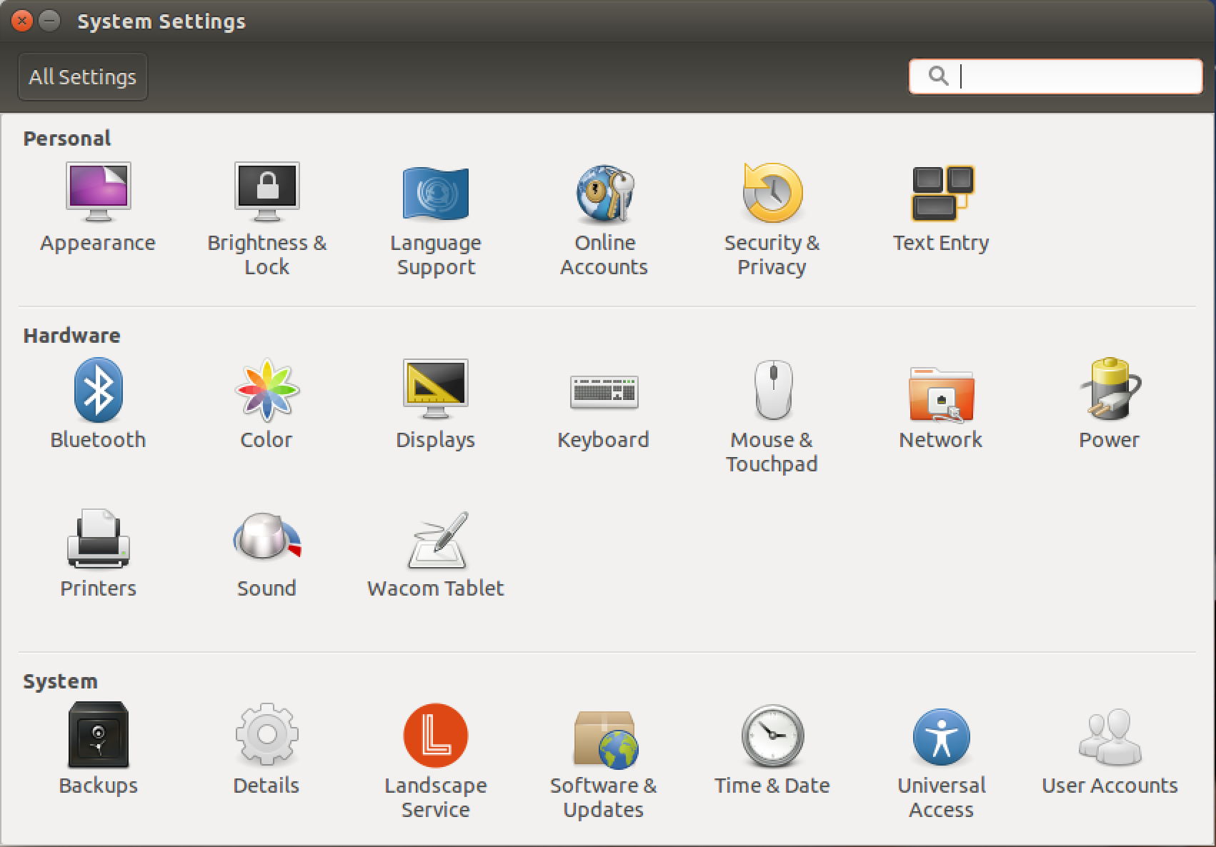 all settings, control panels, settings preferences customize ubuntu linux