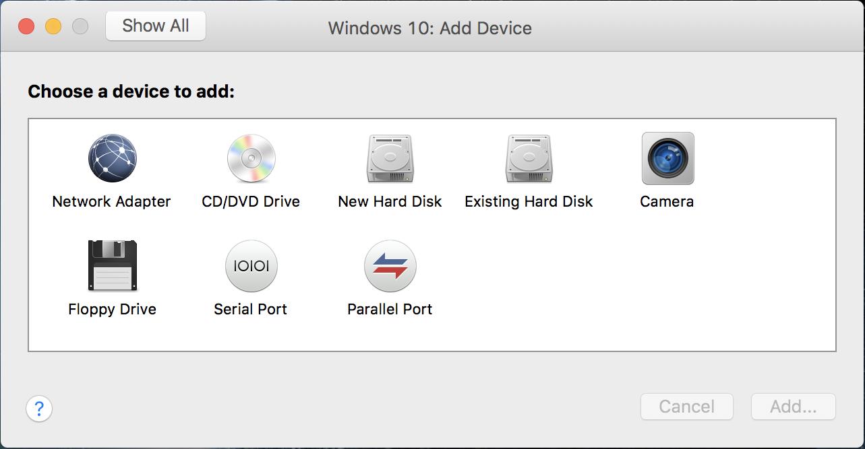 vmware fusion mac os x macos windows add device camera webcam