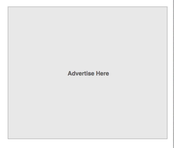 'advertise here' empty ad block on web page