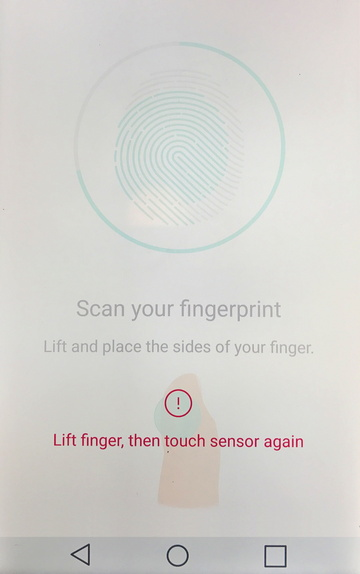 scan your fingerprint, add it, android smart phone