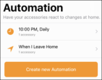 how to set up automation rules events triggers geofence apple homekit smarthome