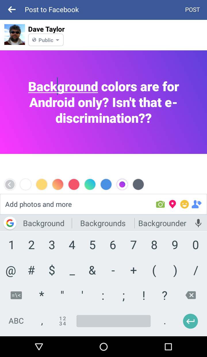 purple gradient background facebook status update android