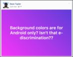 background colors tutorial, facebook for android, status updates