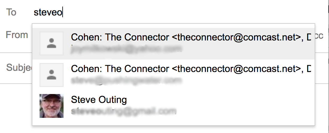 gmail contacts no nickname alias
