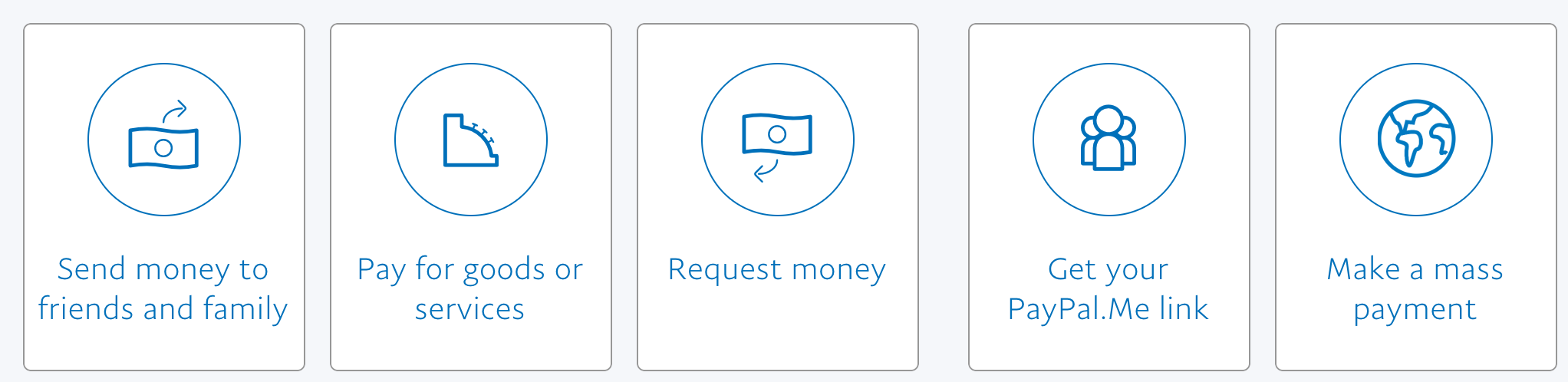 ways you can send or request money, paypal