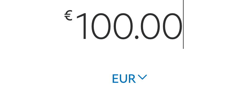 paying 100 euro via paypal