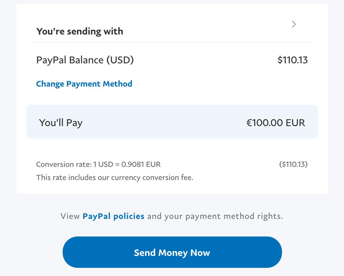 Paypal 5 Euro