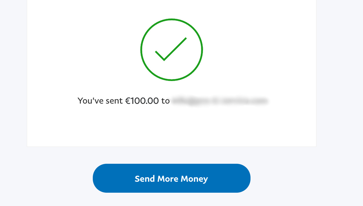 payment sent, paypal