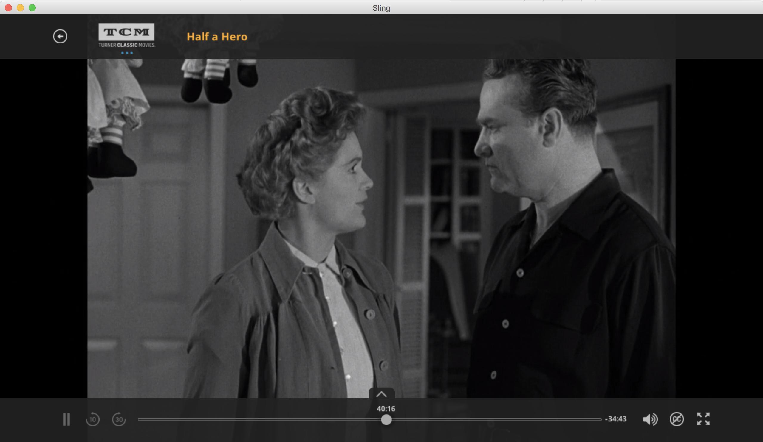 half a hero movie, slingtv streaming tcm, mac