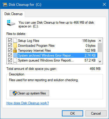 windows 10 win10 disk cleanup