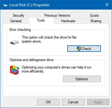 local disk c: properties win10