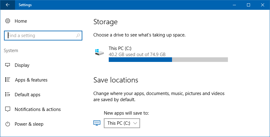 how to get more disk space on windows 10