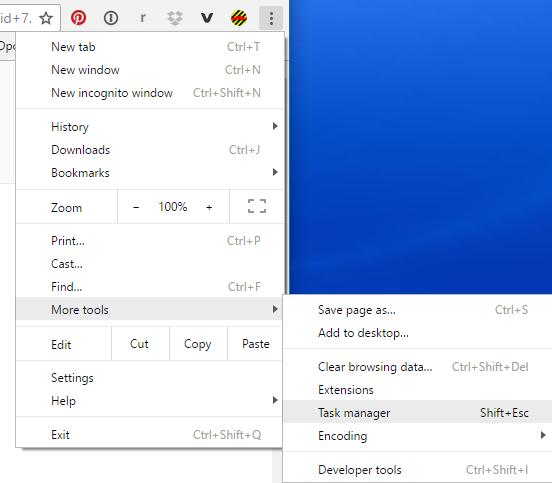 google chrome, main system menu settings configuration preferences
