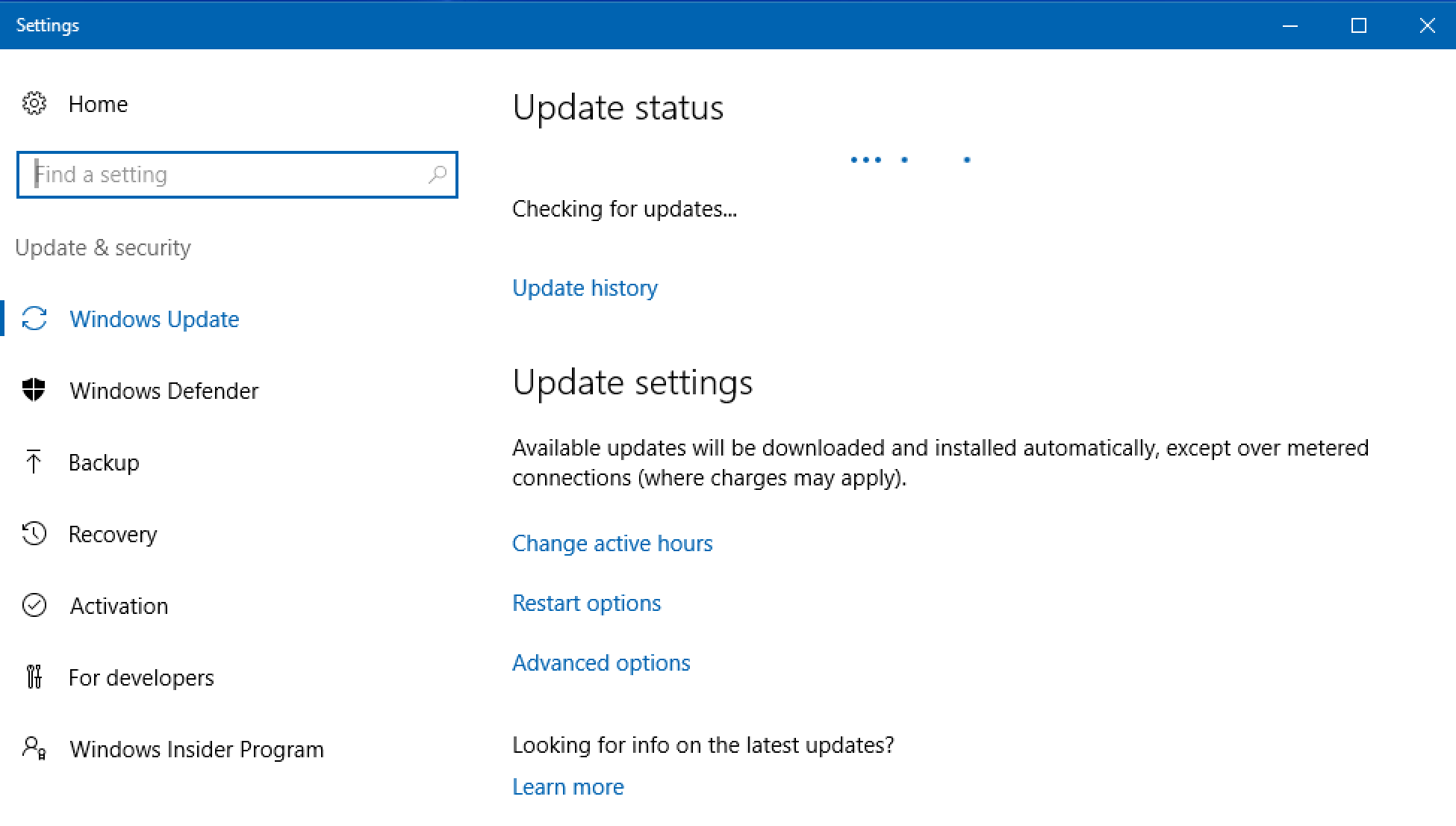 stop automatic windows updates 10