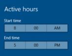 set active hours windows 10 system updates restart work win10
