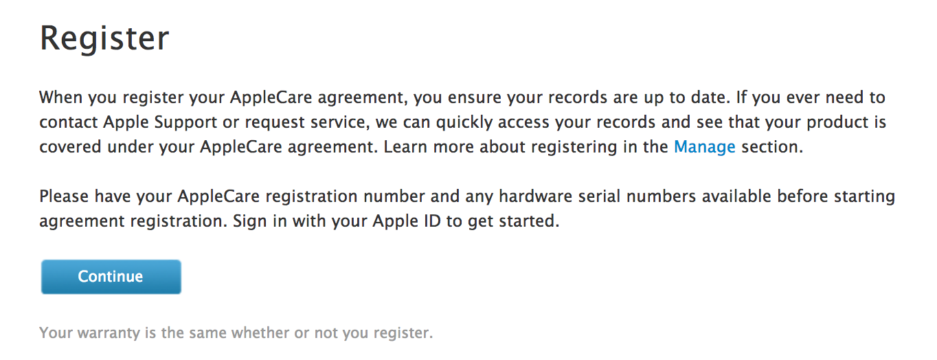 applecare agreement. agree?