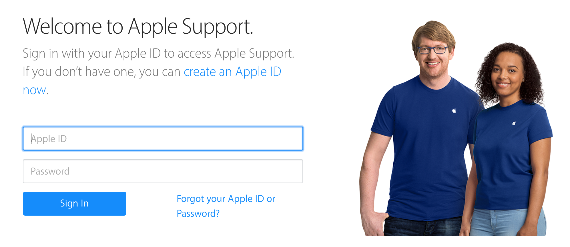 log in apple id appleid applecare support