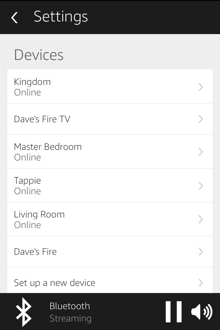 list of available devices, amazon echo alexa