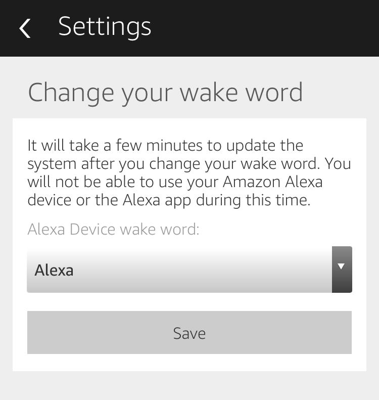 amazon echo: change your wake word