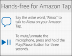 cancel tap-to-talk enable set up turn on hands-free amazon echo tap alexa