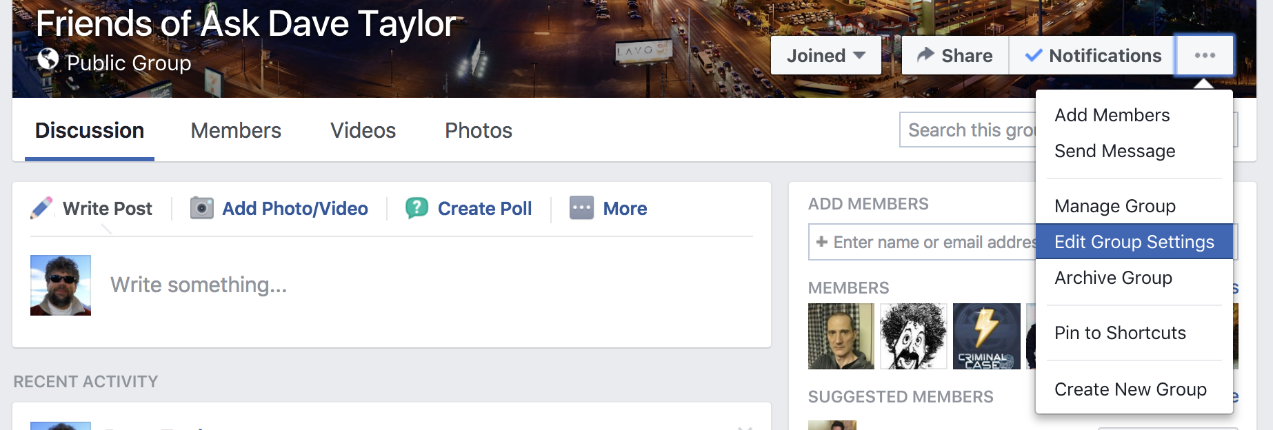 Change a Facebook Group Name? - Ask Dave Taylor