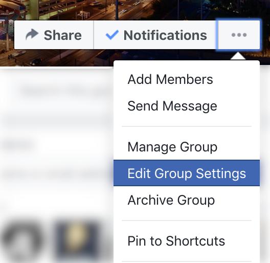 facebook group owner menu