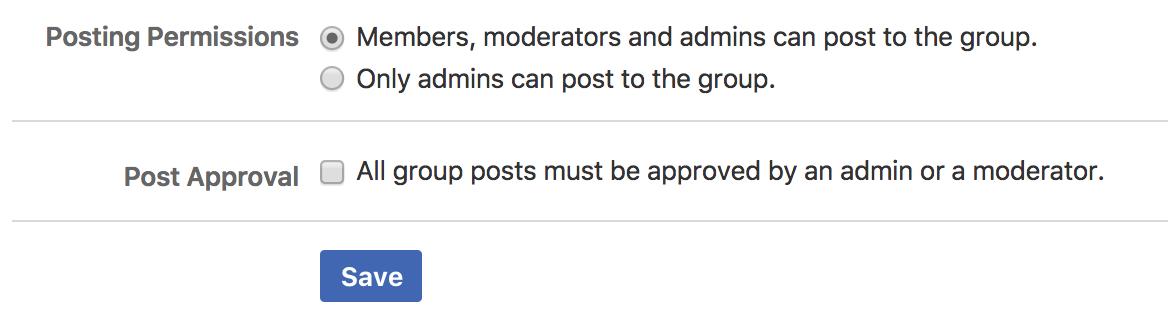facebook group settings, detail