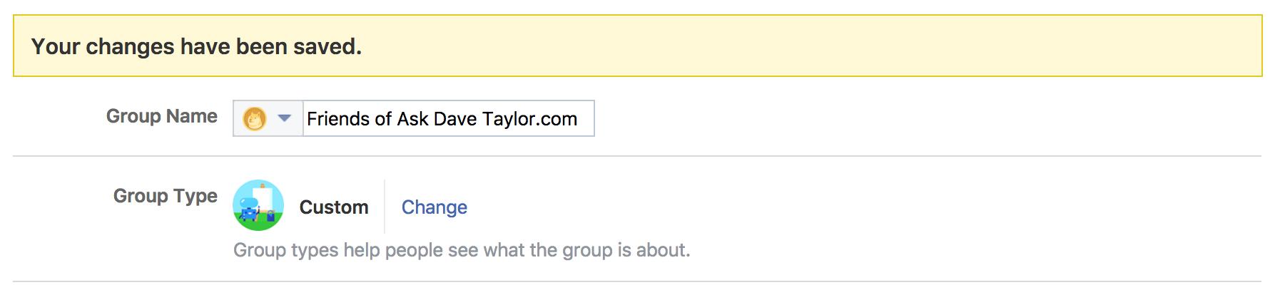 facebook group settings, detail 2