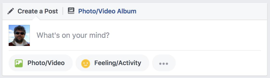 facebook status update, 2017 version