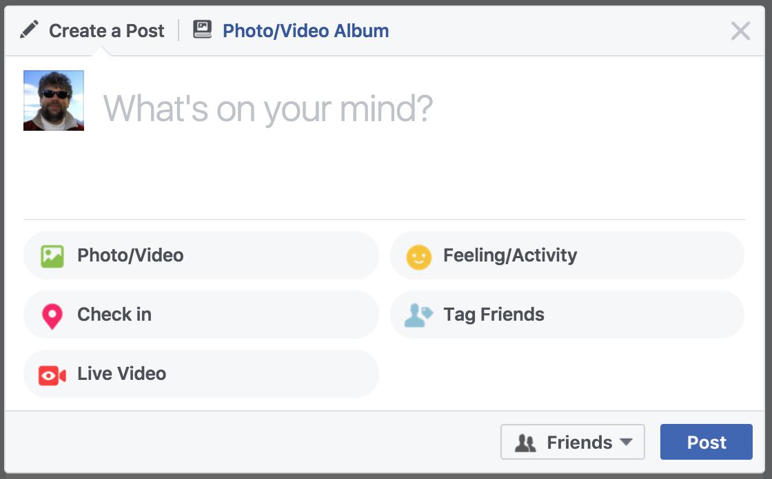 facebook profile status update