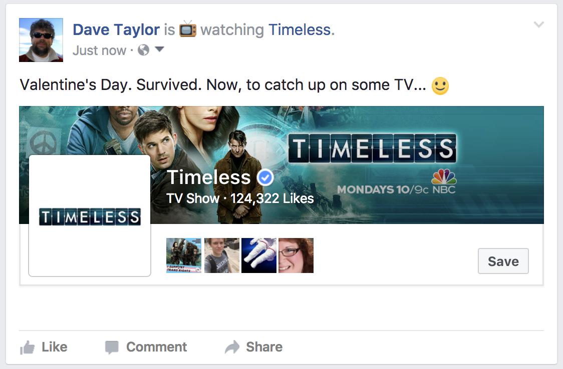 facebook status update with watching status feeling