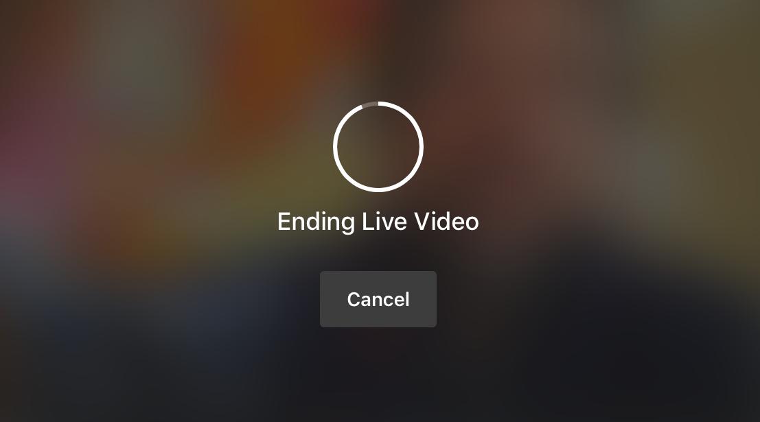 facebook live: ending live video