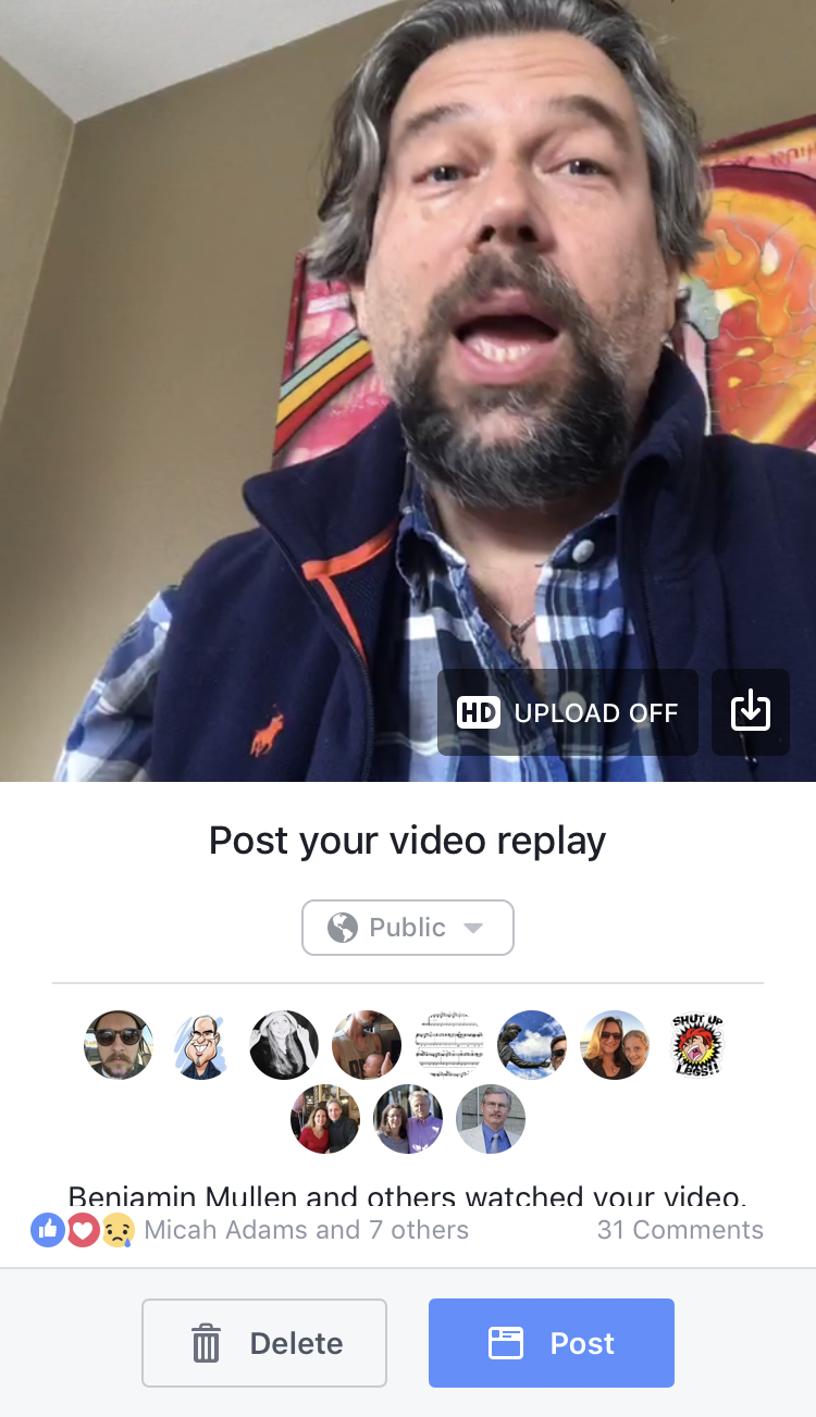 post your facebook live recording?