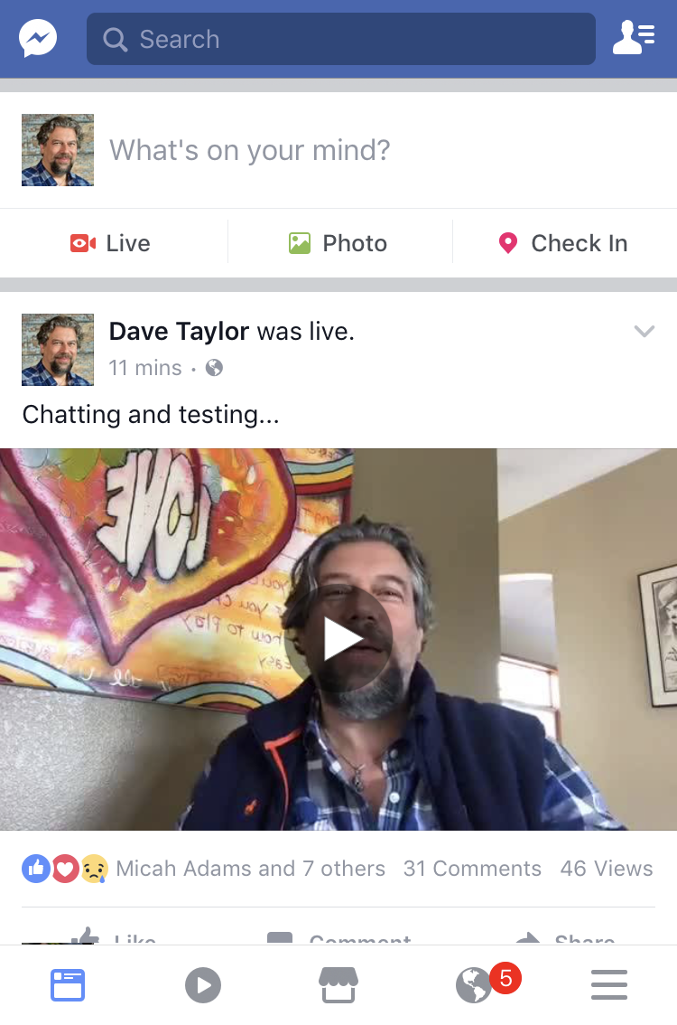 facebook live recorded stream posted