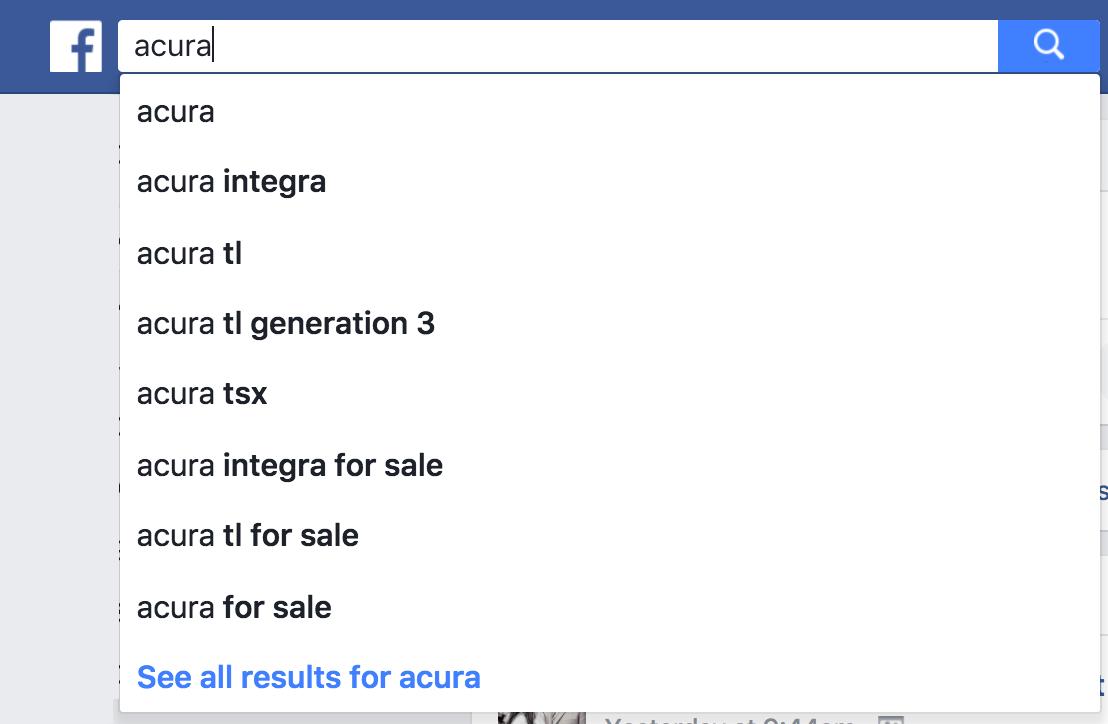 facebook search cupcakes