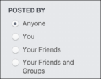 how to facebook search your own profile status updates