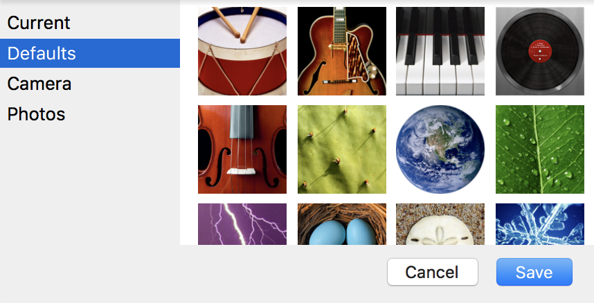 change account icon image, mac os x