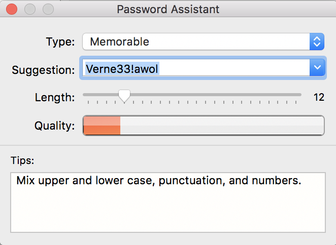 macos x password assistant