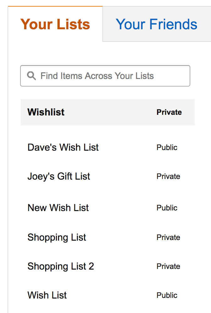 remove amazon wishlists